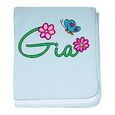 Gia Flowers baby blanket