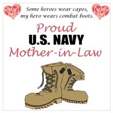 Proud US Navy Mother-in-Law Framed Print