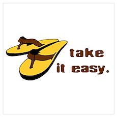 Take It Easy - Beach Life Poster