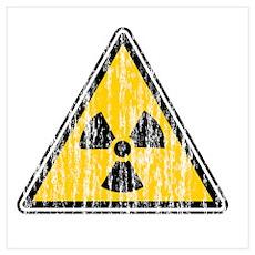 Vintage Radioactive Sign 2 Poster