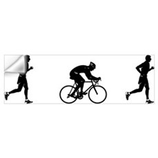 Men's Duathlon Wall Decal