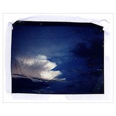 Blue Sky Polaroid Transfer Poster