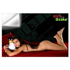 Sexy Linux Girl Wall Decal