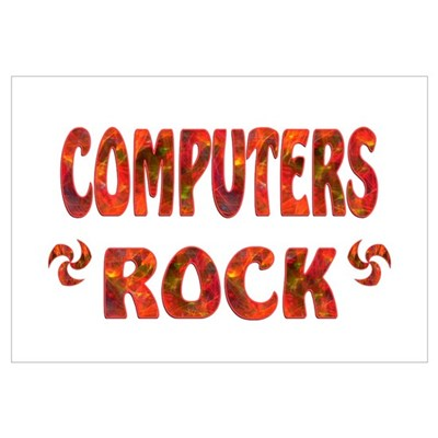 Computers Rock Framed Print