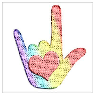 Rainbow I Love You Poster