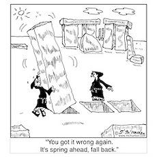 Springing Forward at Stonehenge Poster