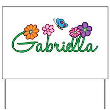 Gabriella Flowers Yard Sign