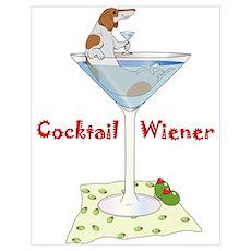 Red Piebald Cocktail Wiener Poster