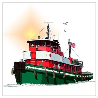 The Tugboat Ohio Canvas Art