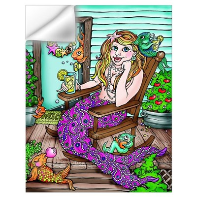 paisley mermaid Wall Decal