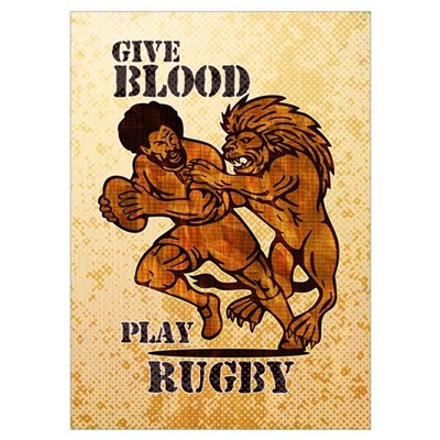 rugby player lion Poster