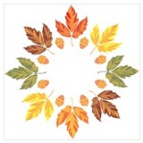 Autumn leaves Wrapped Canvas Art