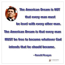 Reagan American Dream Framed Print