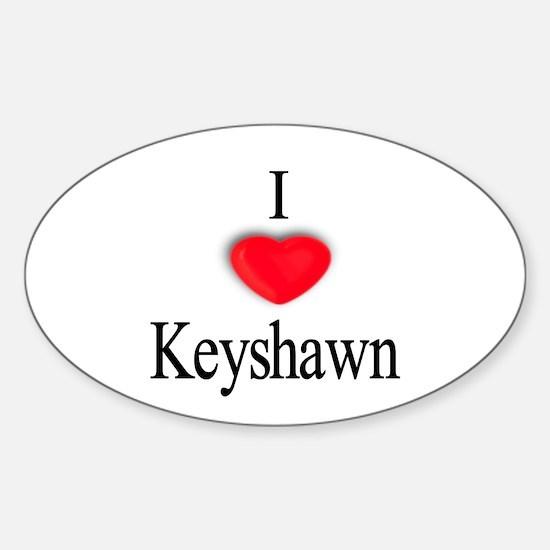 Keyshawn Oval Decal