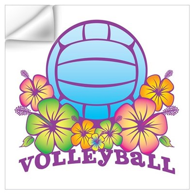 Blossom Beach Volleyball Wall Decal