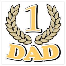 #1 Champion Dad Best Dad Poster