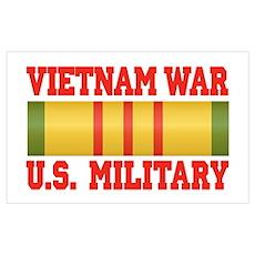 Vietnam War Service Ribbon Poster