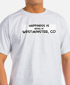 Happiness is Westminster Ash Grey T-Shirt