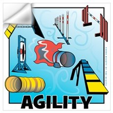 Woodcut Agility Obstacles Wall Decal