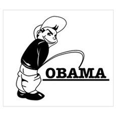 Piss on Obama Poster