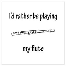 Playing My Flute Poster