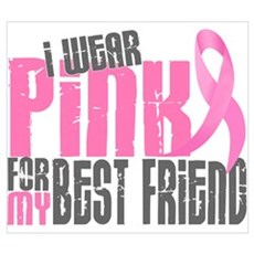 I Wear Pink For My Best Friend 6.2 r Framed Print
