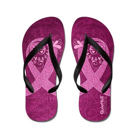 Curly Ribbon (Pink, Light) Flip Flops