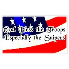 """God Bless Troops"" Poster"