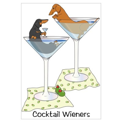 Cocktail Wieners (duo) Framed Print
