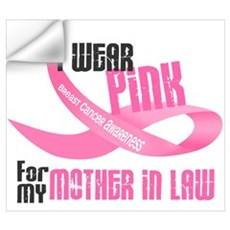 I Wear Pink For My Mother-In-Law 33 Wall Decal