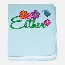 Esther Flowers baby blanket
