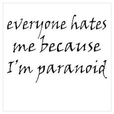 I'm Paranoid Poster