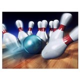 Bowling Wrapped Canvas Art