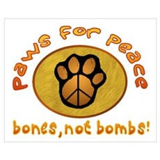 Paws for Peace Canvas Art