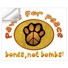 Paws for Peace Wall Decal