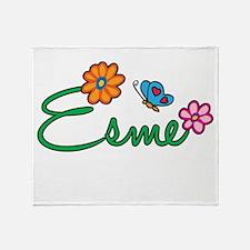 Esme Flowers Throw Blanket