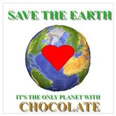 Earth Chocolate Poster