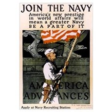 Join the Navy - Be Part of It Framed Print