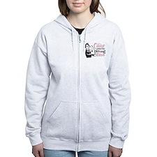 Wrong Diva Breast Cancer Zip Hoodie