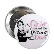 "Wrong Diva Breast Cancer 2.25"" Button"