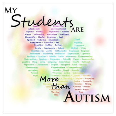 My Students Are More Than Autism Frame Poster