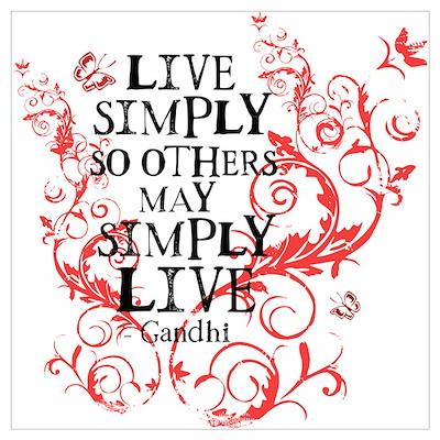 Gandhi Vine - Simply - Pink Poster