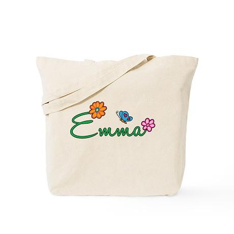 Emma Flowers Tote Bag