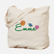 Emma Flowers Tote Bag