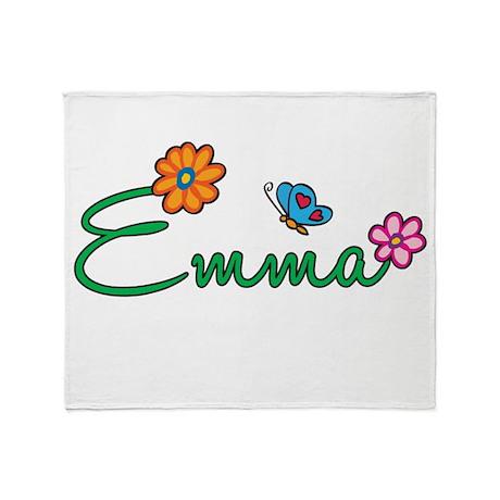 Emma Flowers Throw Blanket