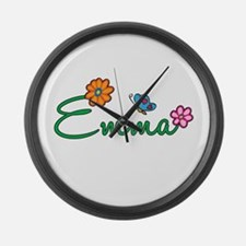 Emma Flowers Large Wall Clock