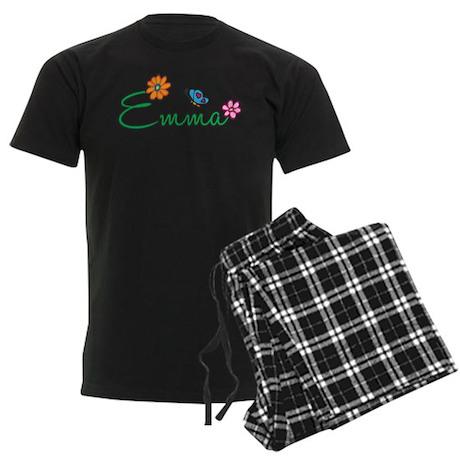 Emma Flowers Men's Dark Pajamas