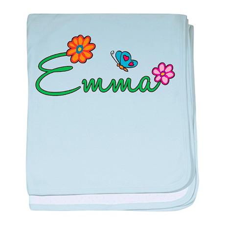 Emma Flowers baby blanket