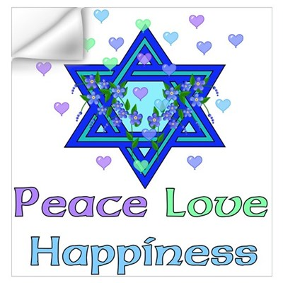 Peace Love Happiness Wall Decal