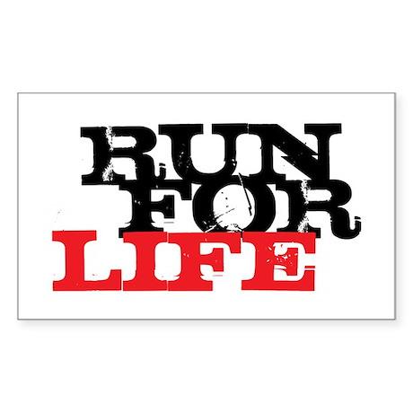 Run for Life Sticker (Rectangle)